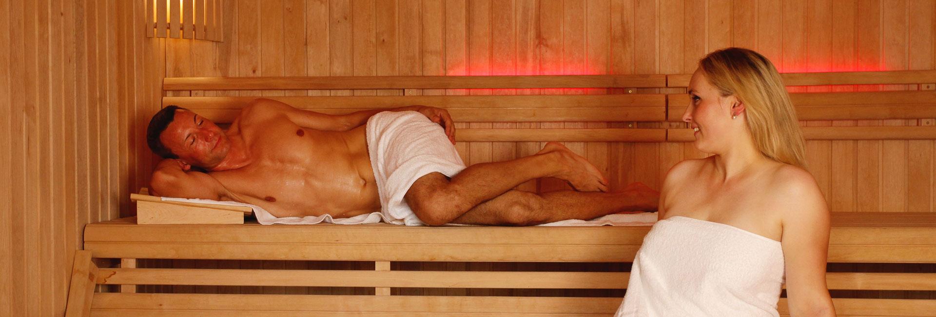 Sauna ständer in der Mein Sohn